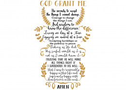 Free SVG cut file - Serenity Prayer