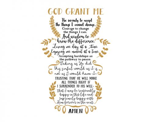 Free SVG cut file - Serenity Prayer