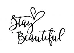 Free SVG cut file - Stay Beautiful