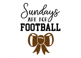 Free SVG cut file - Sundays are for Football