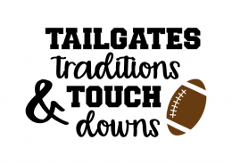 Free SVG cut file - Tailgates Tradition & Touchdowns