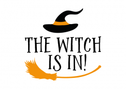 Free SVG cut file - The Witch is in!