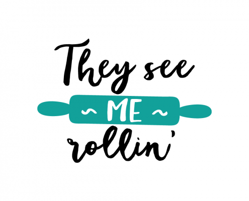 Free SVG cut file - They see me rollin'