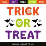 Free SVG cut file - Trick or Treat