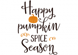 Free SVG cut file - Happy Pumpkin Spice Season