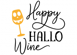 Free SVG cut file - Happy Hallo Wine