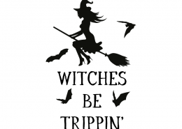 Free SVG cut file - Witches be Trippin