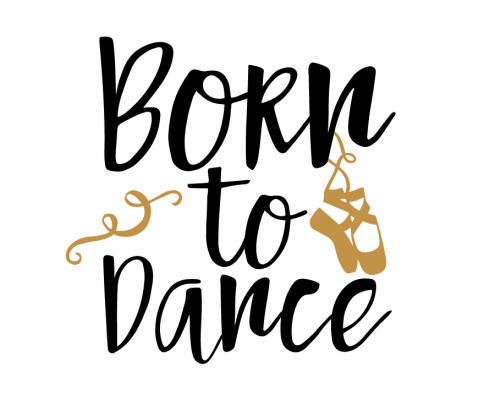 Free svg cut file - Born to dance