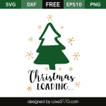 Free SVG cut file - Christmas Loading