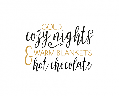 Free SVG cut file - Cold Cozy Nights