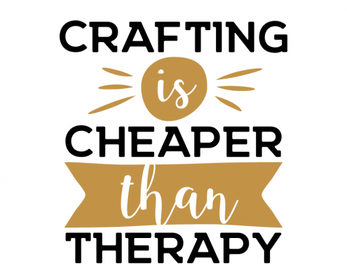 Free SVG cut file - Crafting is cheaper than therapy