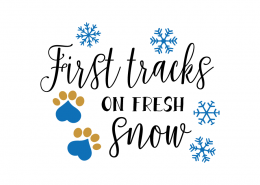 Free SVG cut file - First tracks on fresh Snow
