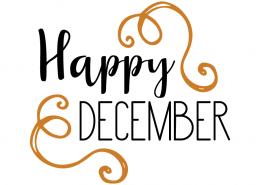 Free SVG cut file - Happy December