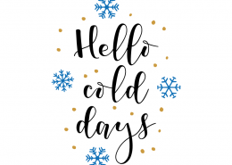 Free SVG cut file - Hello Cold Days