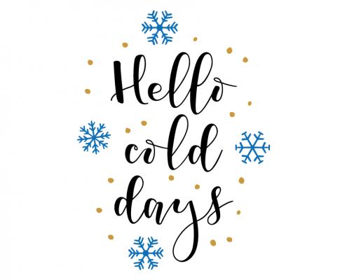Free SVG cut file - Hello Cold Days