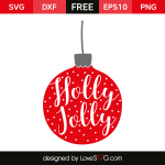 Free SVG cut file - Holly jolly