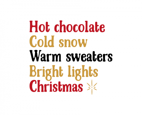 Free SVG cut file - Hot Chocolate Cold snow