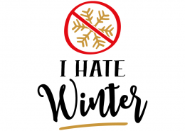 Free SVG cut file - I hate Winter