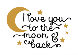 Free SVG cut file - I love you to the Moon and Back