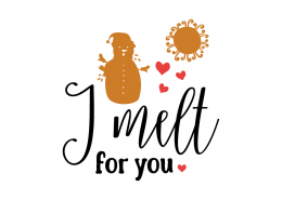 Free SVG cut file - I melt for you