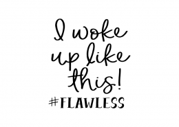 Free svg cut file - I woke up like this