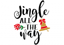 Free SVG cut file - Jingle all the way
