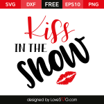 Free SVG cut file - Kiss in the snow