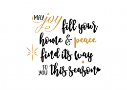 Free SVG cut file - May Joy Fill your home