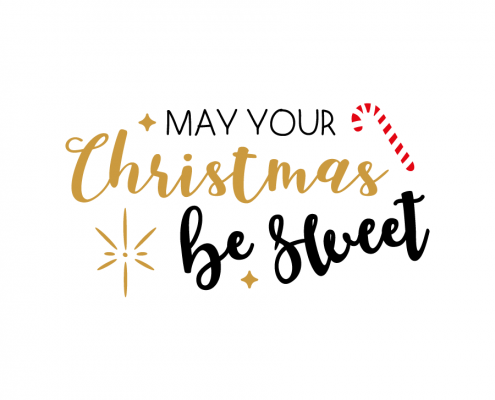 Free SVG cut file - May your Christmas be Sweet