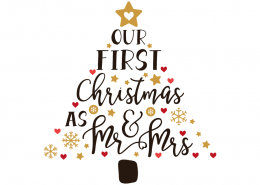 Free SVG cut file - Our first Christmas as Mr & Mrs