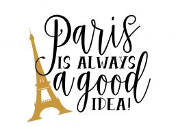 Free SVG cut file - Paris is always a good idea