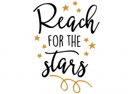 Free SVG cut file - Reach for the stars