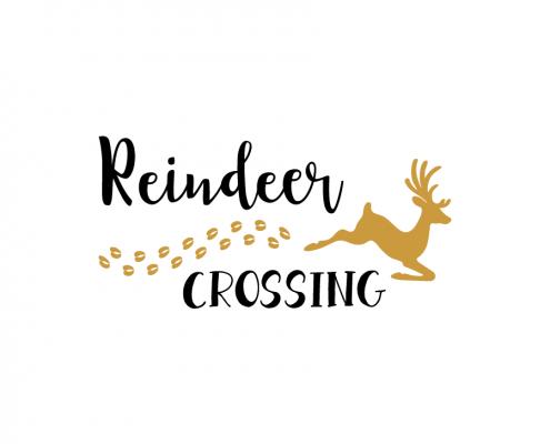 Free SVG cut file - Reindeer Crossing