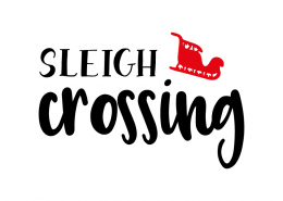 Free SVG cut file - Sleigh Crossing