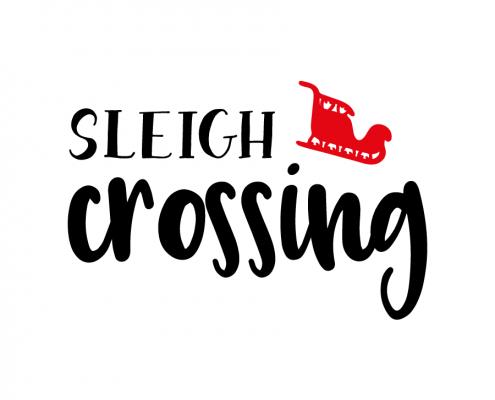 Free SVG cut file - Sleigh Crossing