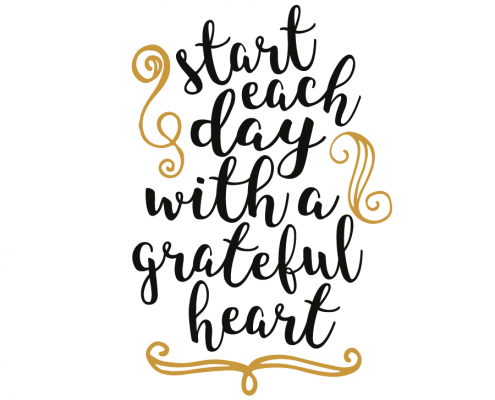 Free SVG cut file - Start each day with a grateful heart