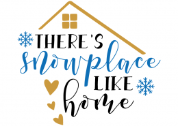 Free SVG cut file - There's snowplace like Home