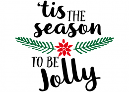 Free SVG cut file - Tis the season to be Jolly