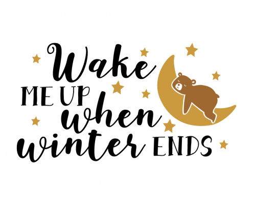 Free SVG cut file - Wake me up when Winter ends