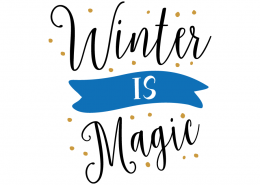 Free SVG cut file - Winter is Magic
