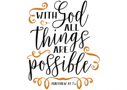 Free SVG cut file - With God all things are possible