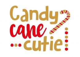Free SVG cut files - Candy Cane Cutie