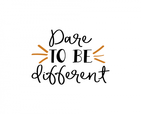 Free SVG cut file - Dare to be different