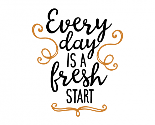 Free SVG cut file - Every day is a fresh start