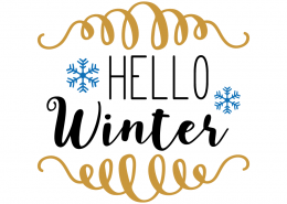 Free SVG cut files - Hello Winter