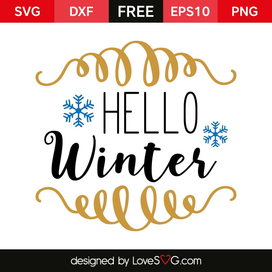 Free SVG cut files - Hello Winter