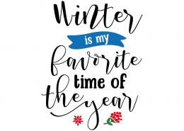 Free SVG cut files - Winter is my favorite time of the year