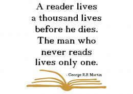 Free SVG cut file - A reader lives a thousand lives