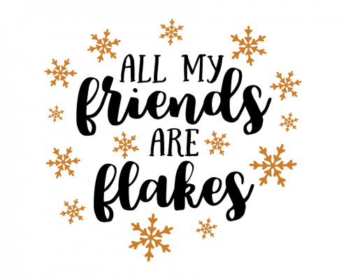 Free SVG cut file - All my friends are flakes