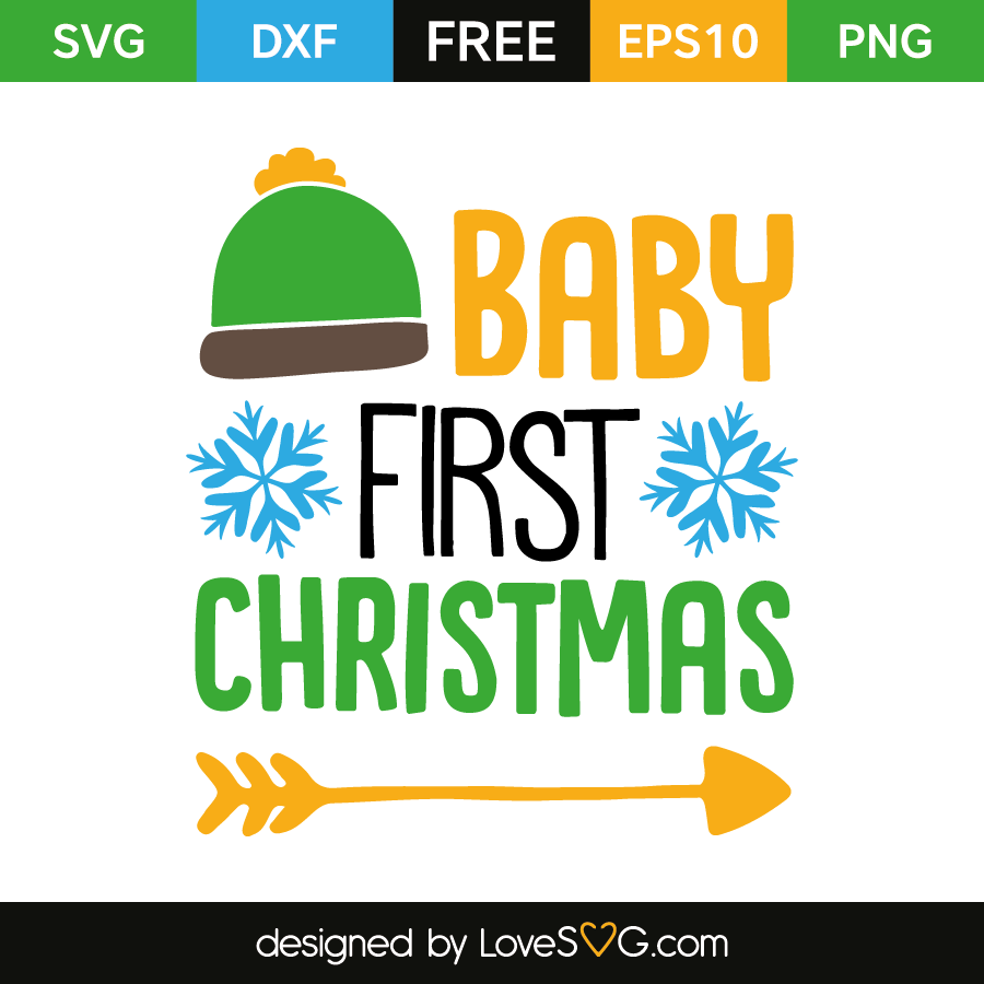 Free SVG cut file - Baby first christmas